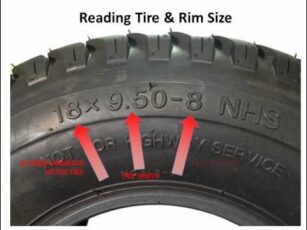 numbers on lawn and garden tractor tires