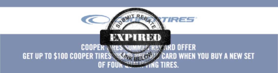 Cooper Tire July Rebate Giga Tires Com